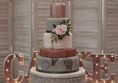 Marble & Blush Pink Wedding Cake